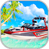Boat Racing -- Water Taxi and Beach Rescue 3D