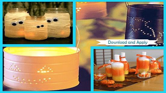 Haloween DIY Tin Can světla dekorace - náhled