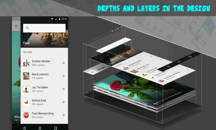 Successful Mobile App Designing - Depths and Layers in the Design