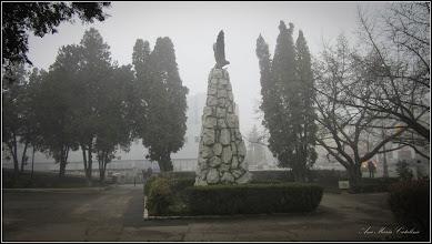 Photo: Monumentul Aviatorilor  - din spatiul verde al Catedralei - 2019.01.09