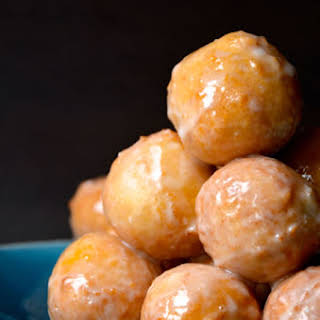 Easy Homemade Glazed Doughnut Holes.
