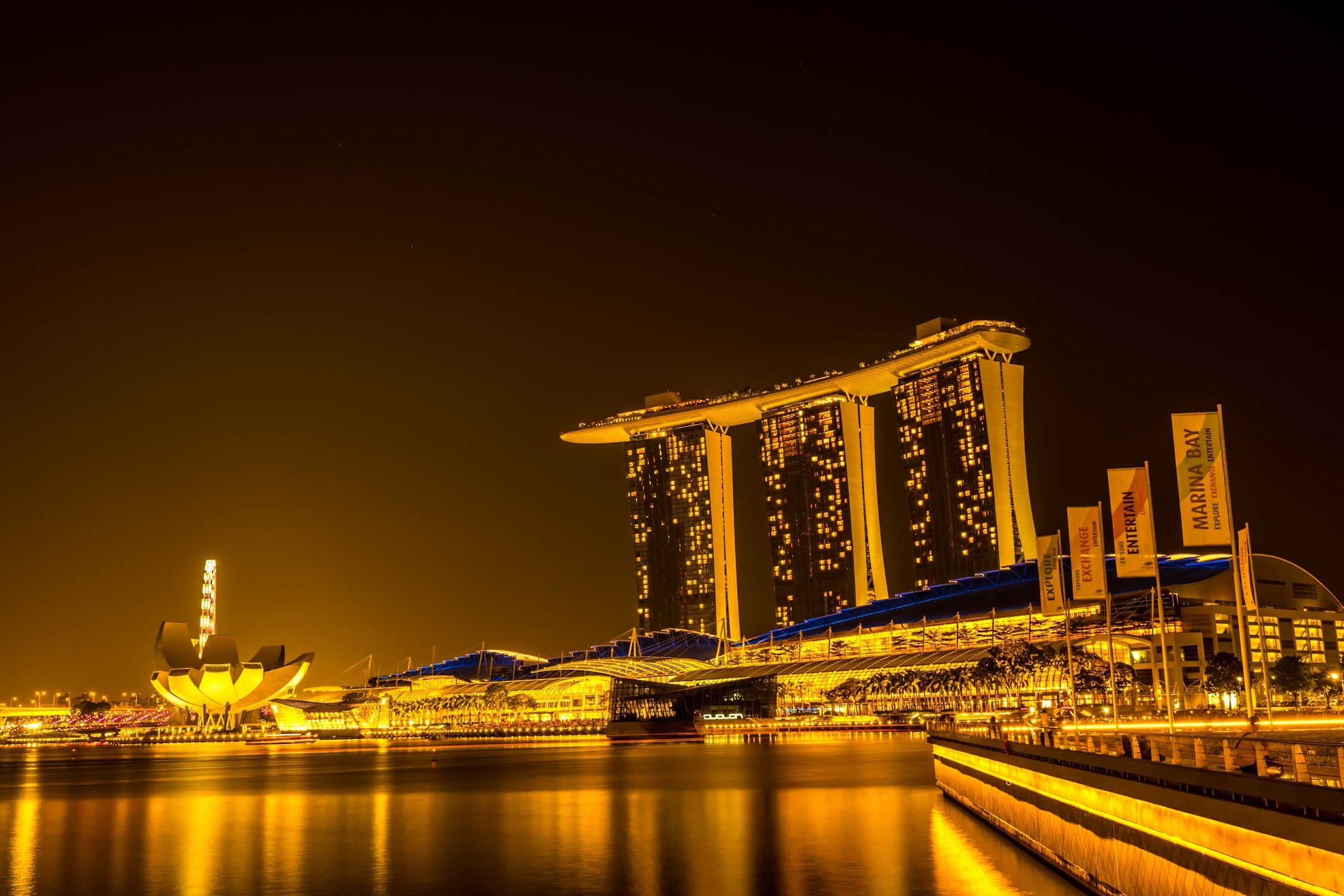 Singapore Marina Bay Sands night view8