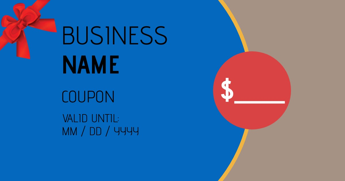 coupon template for store