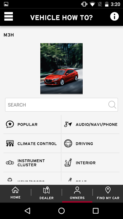 MyMazda- screenshot