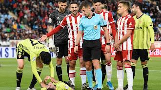 Rubén Ávalos Barrera en el Almería-Real Zaragoza.