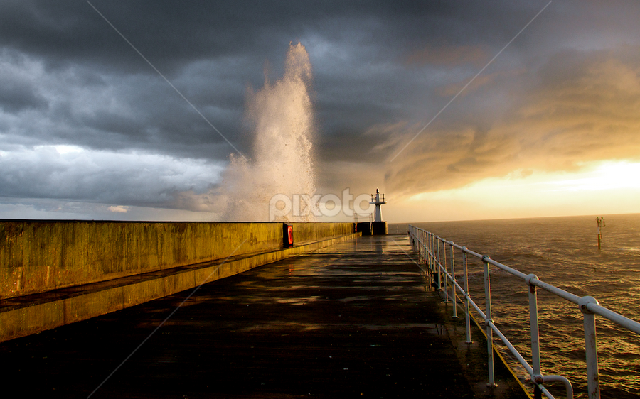 Pittenweem Pier by Benjamin Arthur - Landscapes Waterscapes ( fife, scotland, sunset, east neuk, pier, pittenweem, benjaminarthur.com, seascape, landscape )
