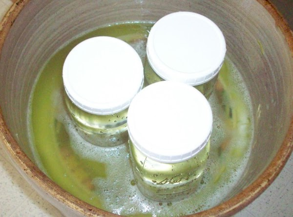 Place a heavy enough weight on plate to make the brine come up to...