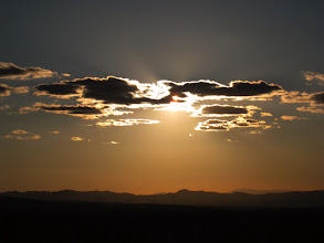 Photo: A few minutes before sunset, the sun passed behind a few clouds giving this opportunity for pictures.