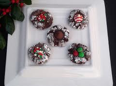 Cocoa Thumbprint Cookies Recipe