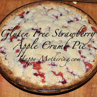 Strawberry Apple Crumb Pie