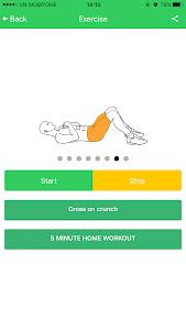 Abs 5 minutes workout screenshot 14