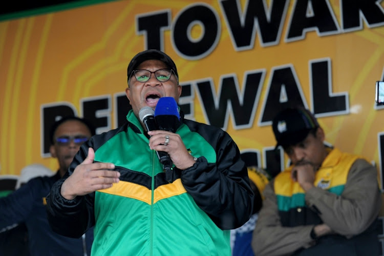 ANC Head of Elections Fikile Mbalula addresses the audience during the launch of the party's Thuma Mina campaign on May 14 2018 in Tembisa. Picture: SOWETAN/VELI NHLAPO