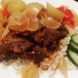 Rice with Beef Stew  Recipe