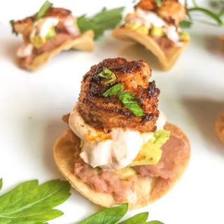 Healthy Shrimp Tostadas Bites.