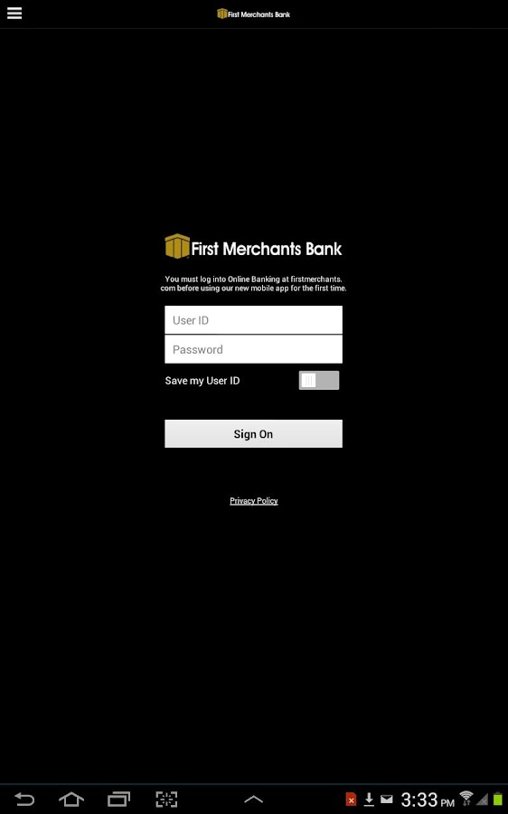 First Merchants Mobile-Tablet- screenshot