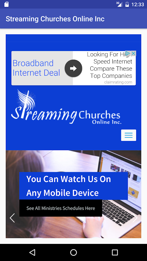 Streaming Churches Online App