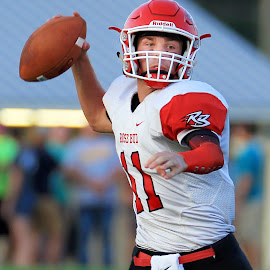 THE QUARTERBACK by Diana Cantey - Sports & Fitness American and Canadian football ( rose bud rambler football, diana cantey sports photography, rose bud ramblers, diana cantey photography, diana cantey )