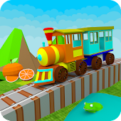 3D Learn Colors Train for Kids