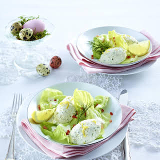 Smoked Trout Mousse on Salad.