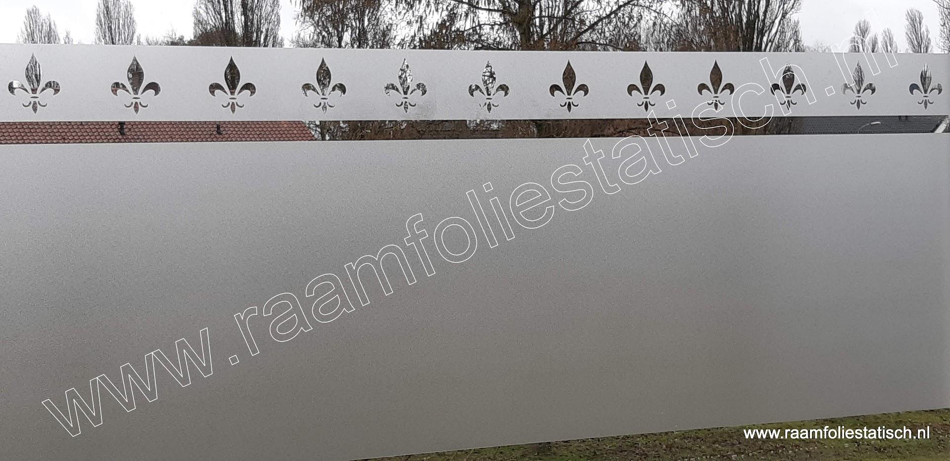 Barok1 franse lelie strook statische matte standaard raamfolie