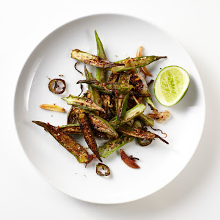 Stir-Fried Okra with Shallots, Chile, and Ginger Recipe