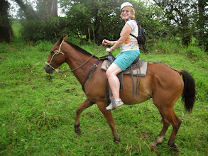 """Photo: Me on my trusty steed. From the guide """"Don't worry, Carnelo is a professional horse"""""""