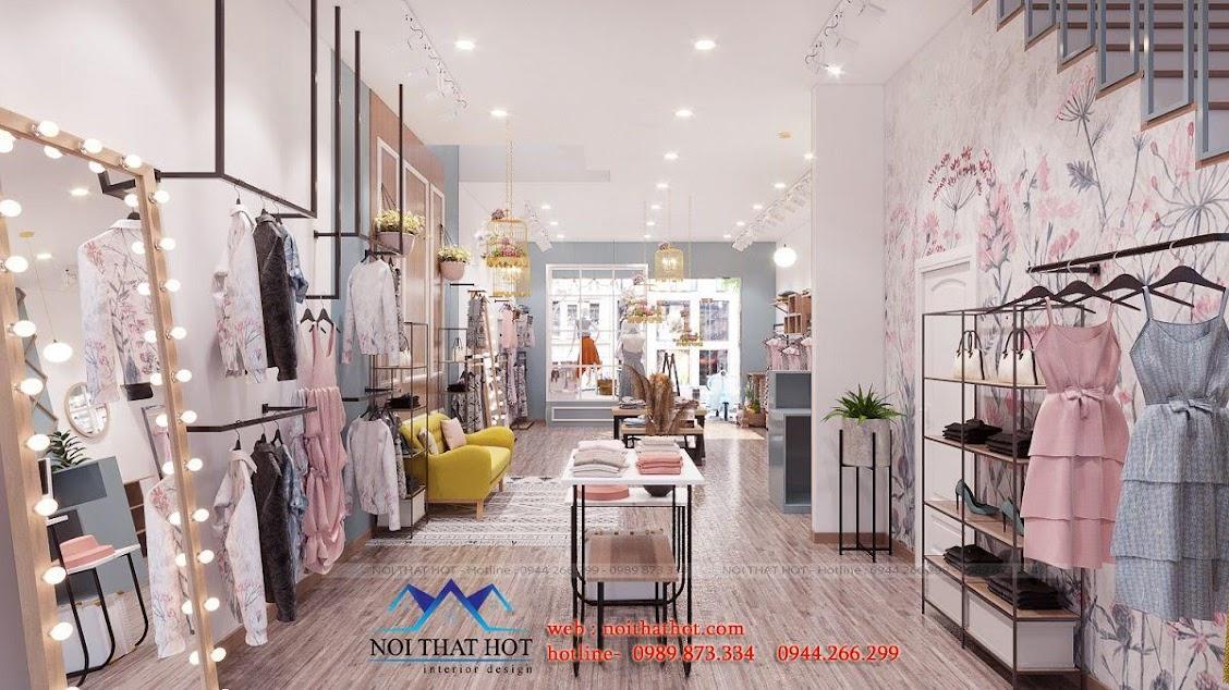 thiết kế shop thời trang nữ dova chất lượng