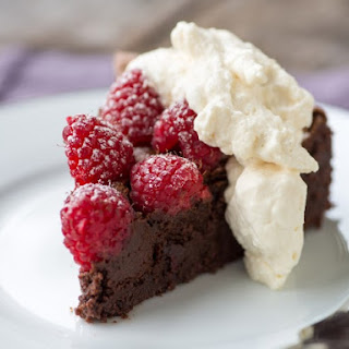 Flourless Chocolate Almond Torte.