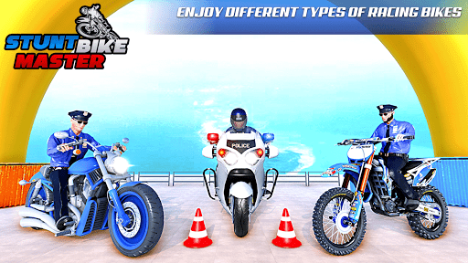 Police Bike Stunt Racing: Mega Ramp Stunts Games modavailable screenshots 7