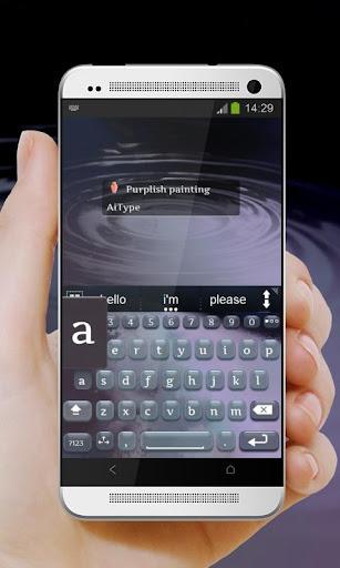 無料个人化Appの紫絵画 AiType テーマ|記事Game