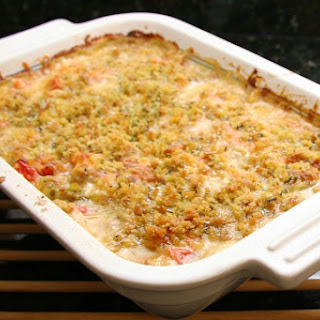 Easy Eggplant Casserole With Cheese.