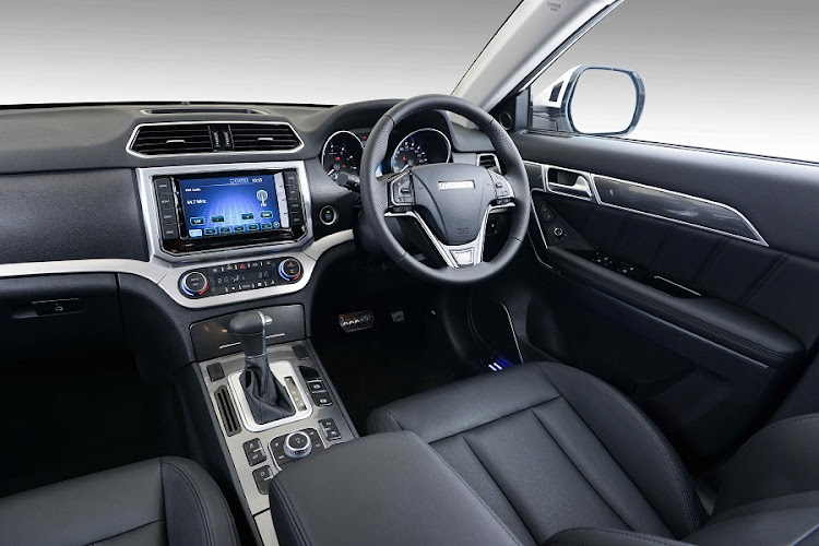 The interior features a multitude of creature comforts and a touchscreen infotainment system. Picture: QUICKPIC/HAVAL SA
