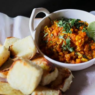 Pav Bhaji (Spicy Indian Vegetables with Buttery Bread Rolls).