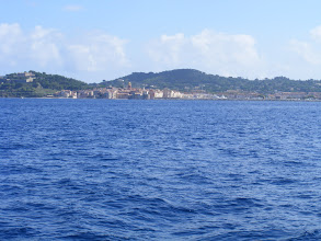Photo: It's only 20 minutes across the bay, and so Saint-Tropez comes quickly into view. The town name comes from the Roman officer Torpes. Legend has it that his conversion to Christianity angered the emperor, who had him beheaded and set adrift in a small boat, which some time later made landfall here.