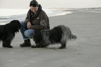 Photo: Wilma hat etwas interessantes im Sand entdeckt