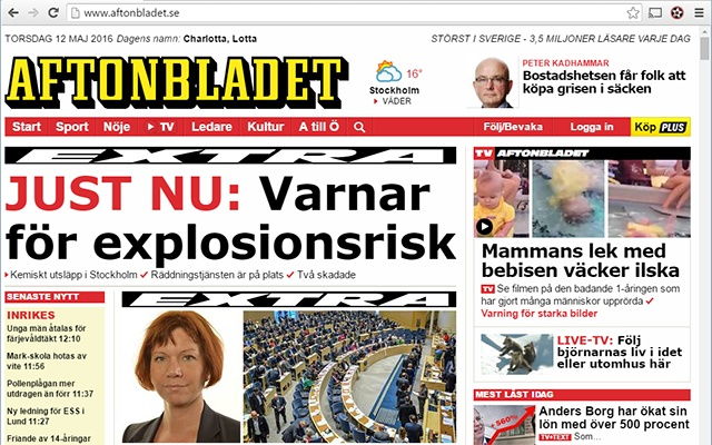 Aftonbladet - No more sports!