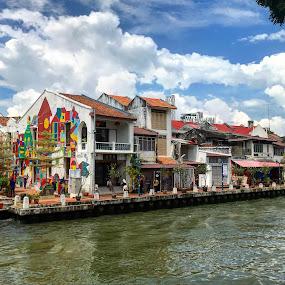 Jonker Walk Stroll by Jozephina Jong - Buildings & Architecture Public & Historical ( wall art, historical town, buildings, melaka )