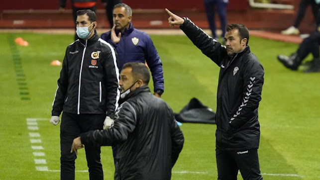 López Garai en el Albacete-Almería esta temporada.