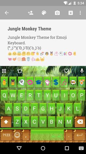 Jungle Monkey Emoji Keyboard