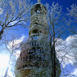 tower by Alen Zita - Buildings & Architecture Other Exteriors ( hill, tower, winter, snow, croatia )
