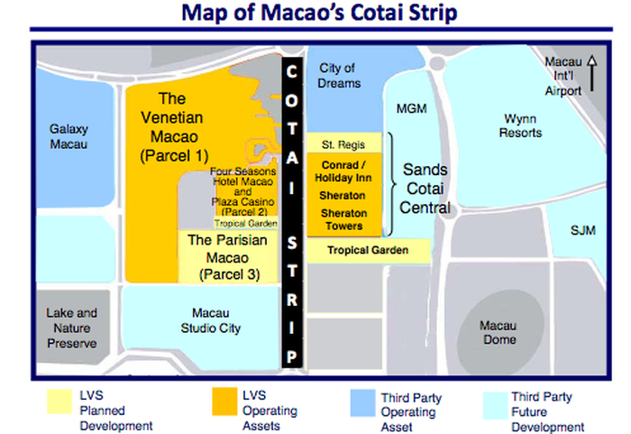 Macau Cotai casino resort map