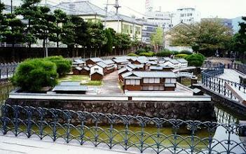Photo: Dejima, small model showing the area when it was still an island. Nagasaki.