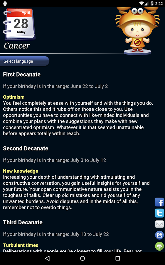 Horoscope HD Free- screenshot