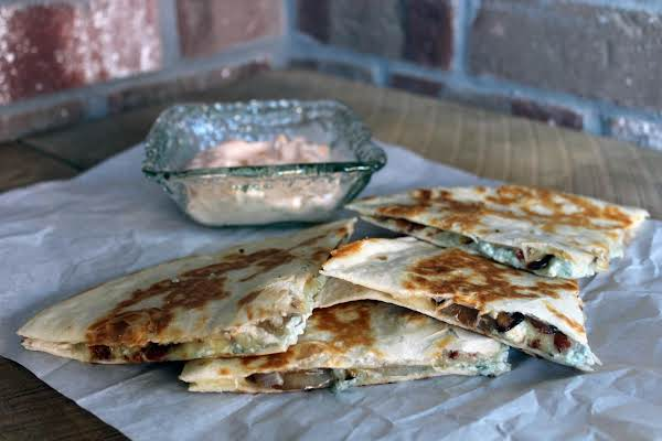 Bacon & Blue Quesadillas With Sweet Dipping Sauce