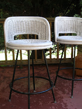Photo: (2) VINTAGE WICKER BAR STOOLS: SOLD