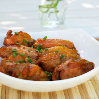 Baked Honey Garlic Chicken Wings.