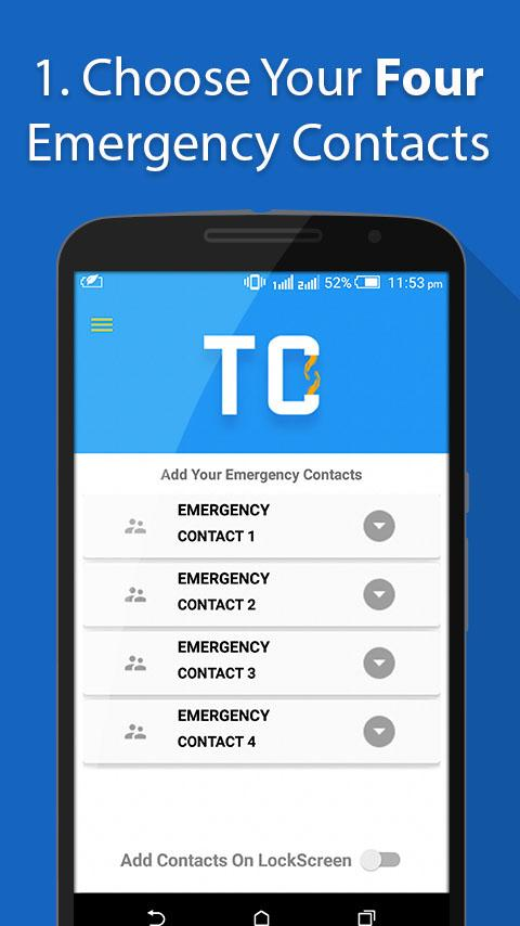 Take Care - Emergency Contacts- screenshot