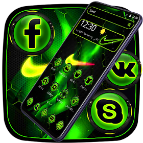 Green Neon Sports Light Theme