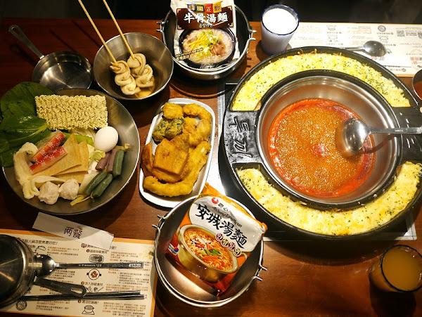兩餐두끼韓國年糕火鍋吃到飽 新竹店,299元炸物、韓國甜不辣、韓國泡麵、韓式炒飯吃到飽。