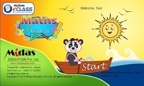 MiDas eCLASS Maths 8 Demo screenshot 0